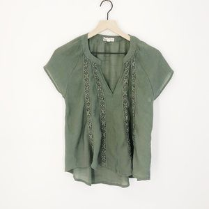 About a Girl Green Top Size Small
